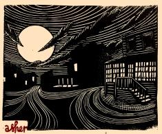 Moonrise on Main Street